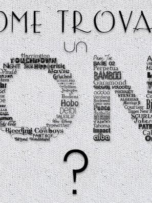 Come trovare un font