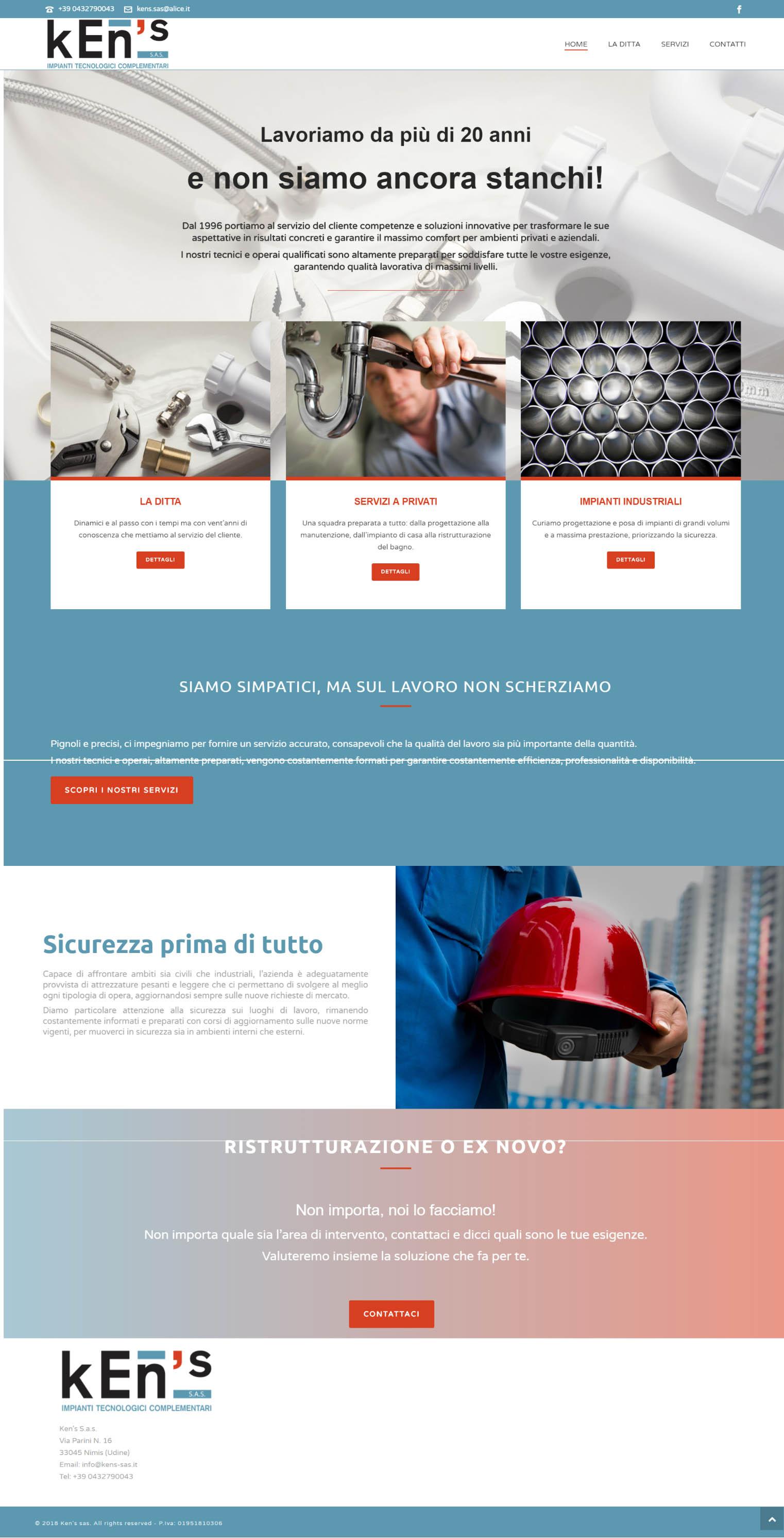 sito web aziendale kens sas